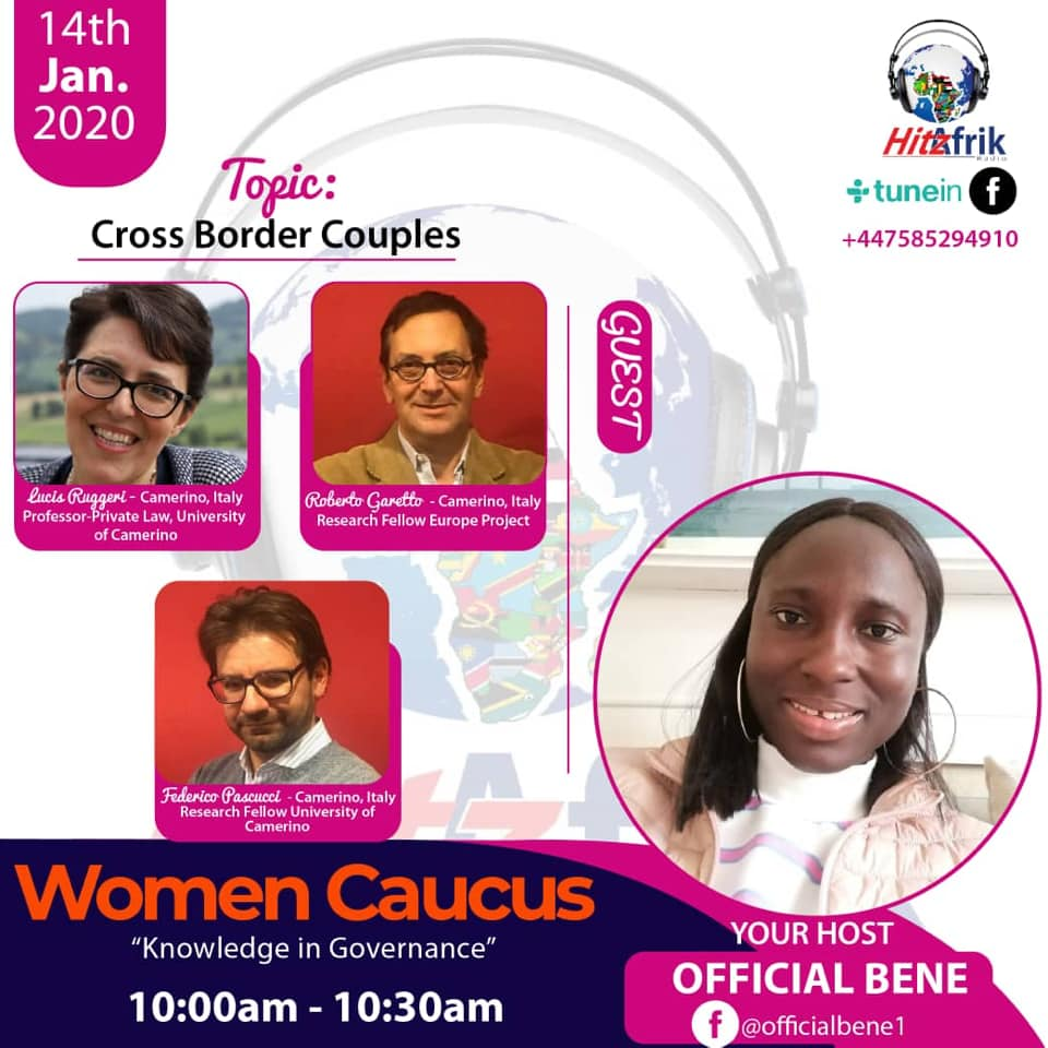 Cross border couples: radio interview to the Unicam team