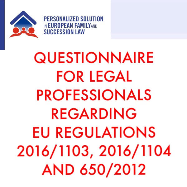 QUESTIONNAIRE FOR LEGAL PROFESSIONALS. THE PSEFS ACTIVITIES DON'T STOP AND YOUR CONTRIBUTION CAN BE FUNDAMENTAL